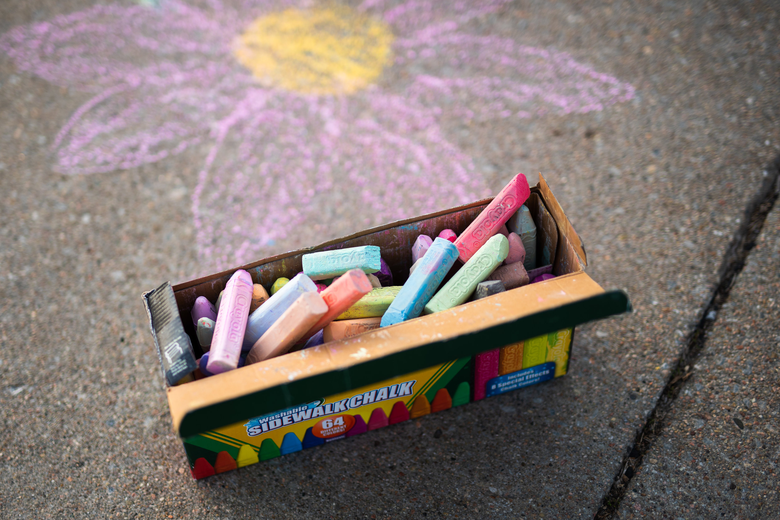box of Crayola sidewalk chalk outdoors in Lincoln, Nebraska.jpg