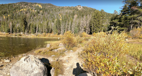 Courtesy of google maps--the lake was entirely iced over with high grasses and we were up on those rocks up there!