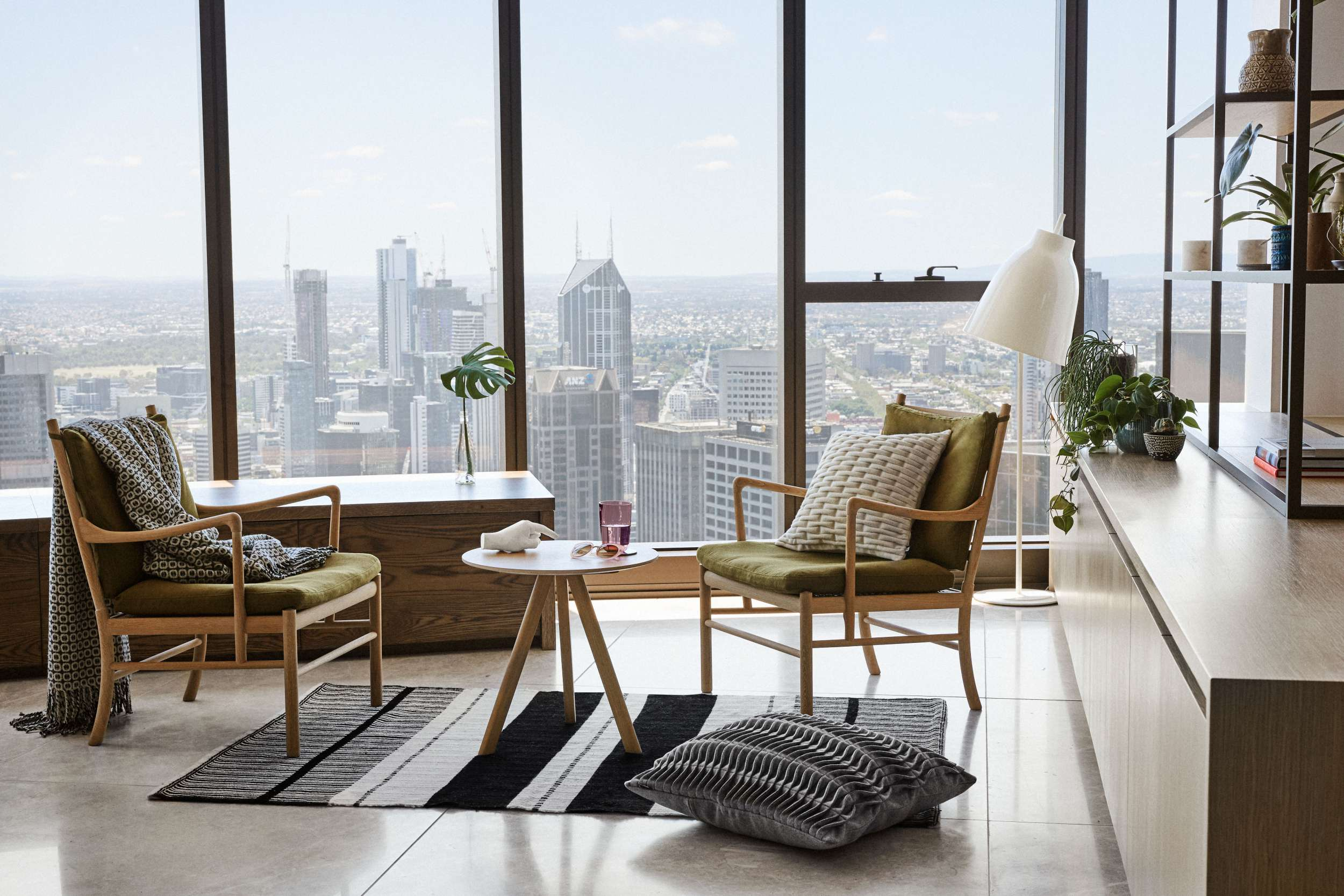 Southbank apartment decoration, Melbourne, living room design.jpg