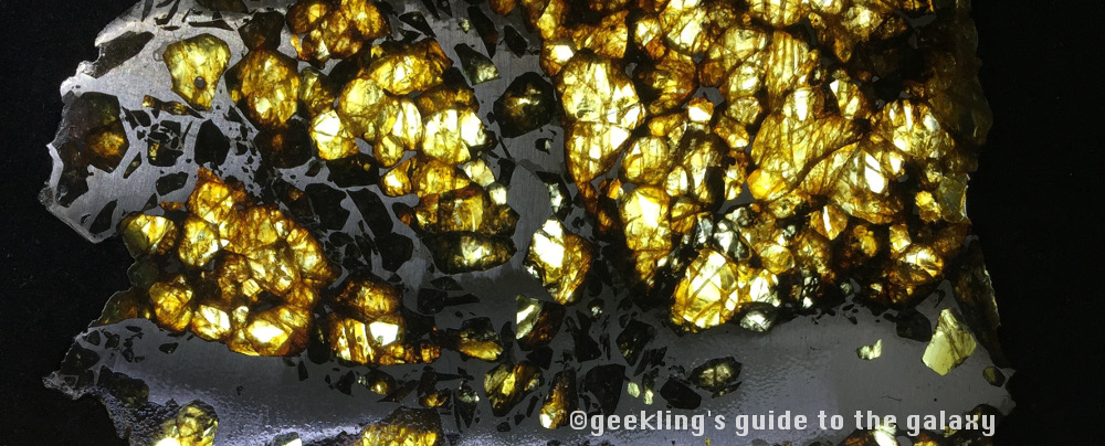 Example of a pallasite meteorite.
