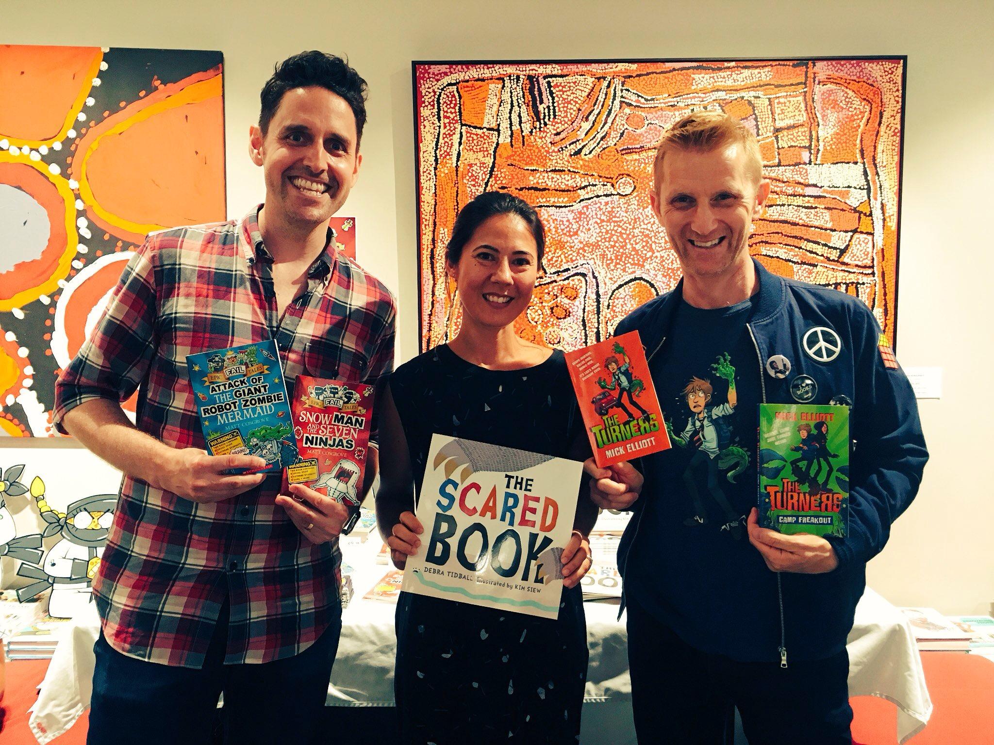 Matt Cosgrove, Kim Siew and Mick Elliott at Better Read Than Dead in Newtown