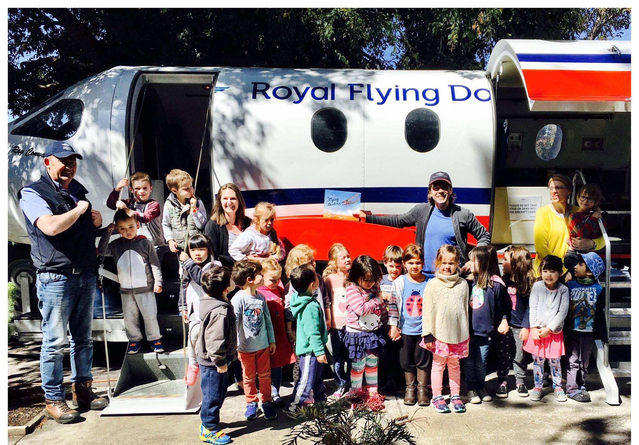 The RFDS mobile simulator visits one of many primary schools