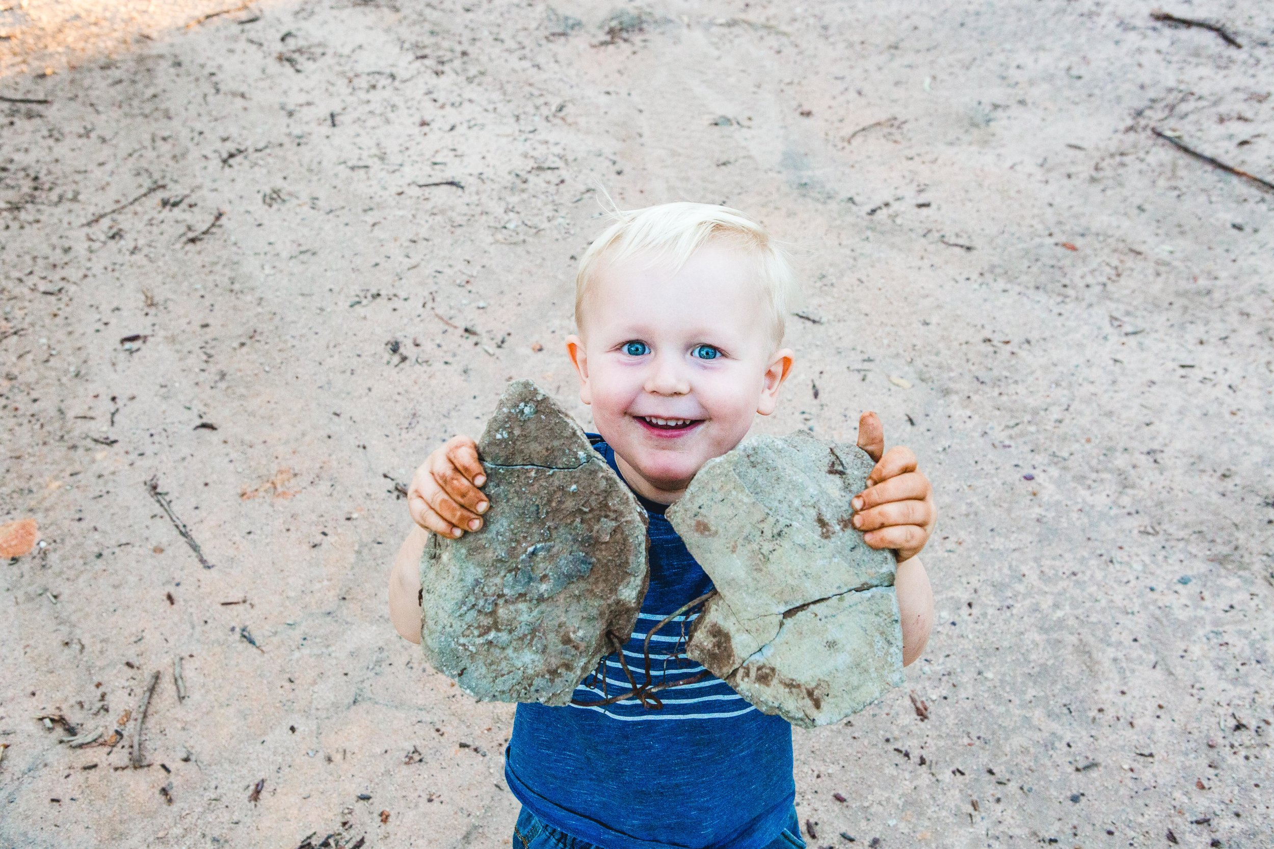 Toddlers are a magnet for dirt!