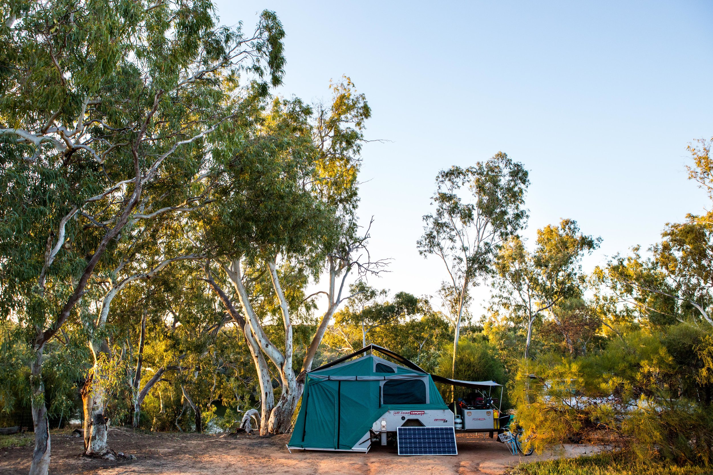 Our camp set up at the beautiful Murchison House Station, just outside Kalbarri in Western Australia