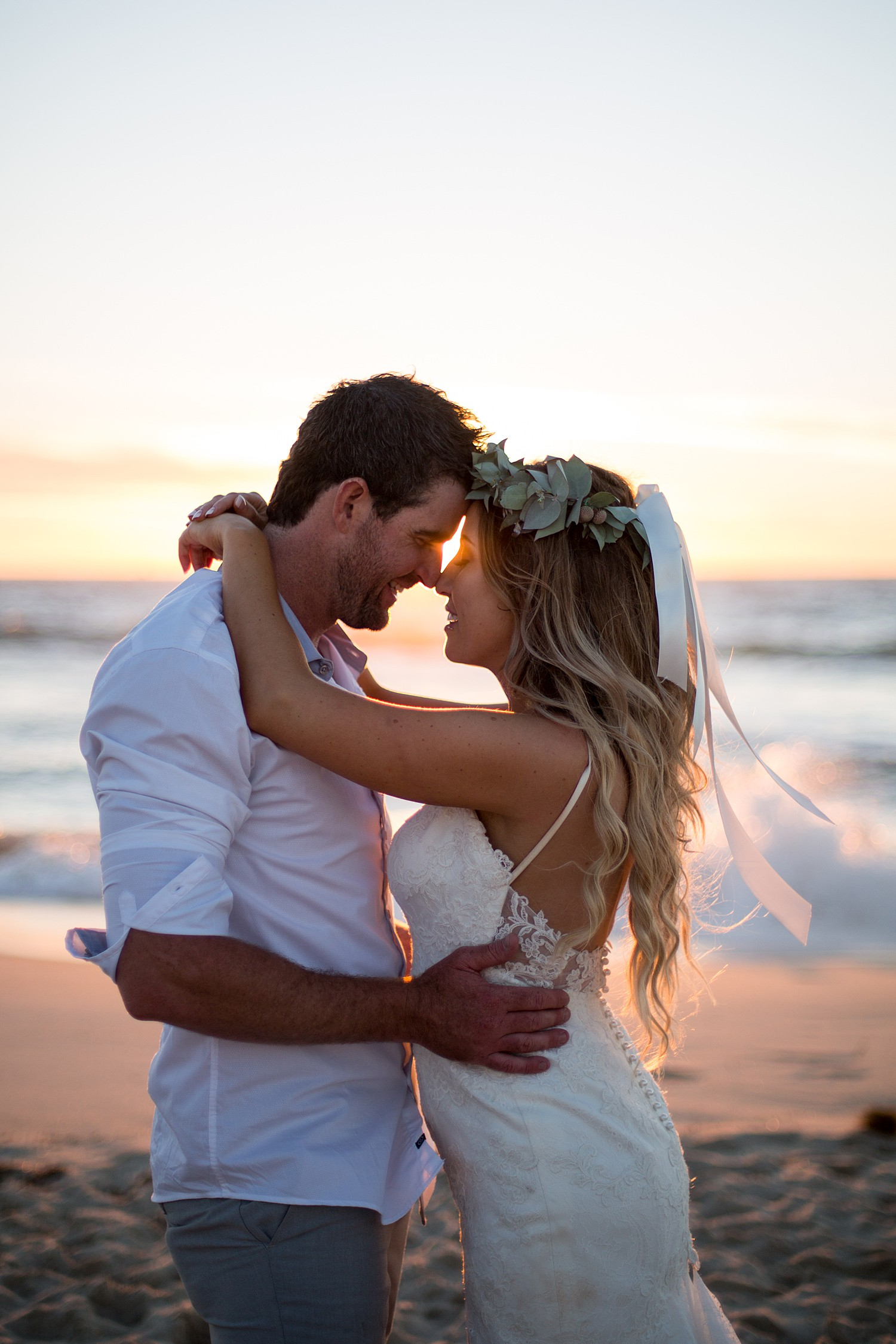 Megan + Brett - Perth Beach Wedding