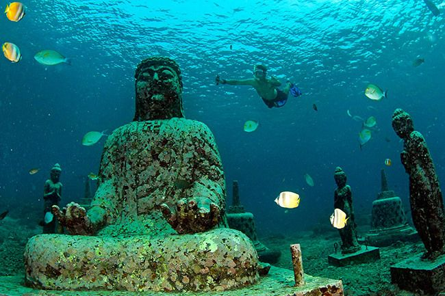 The Temple Garden situated in Pemuteran's reef
