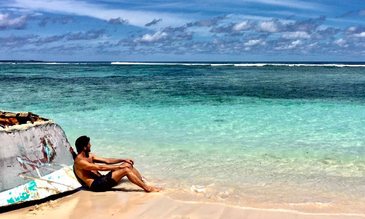 Castaway: Greg contemplating that there could be worse things than a marooned life on Rote!