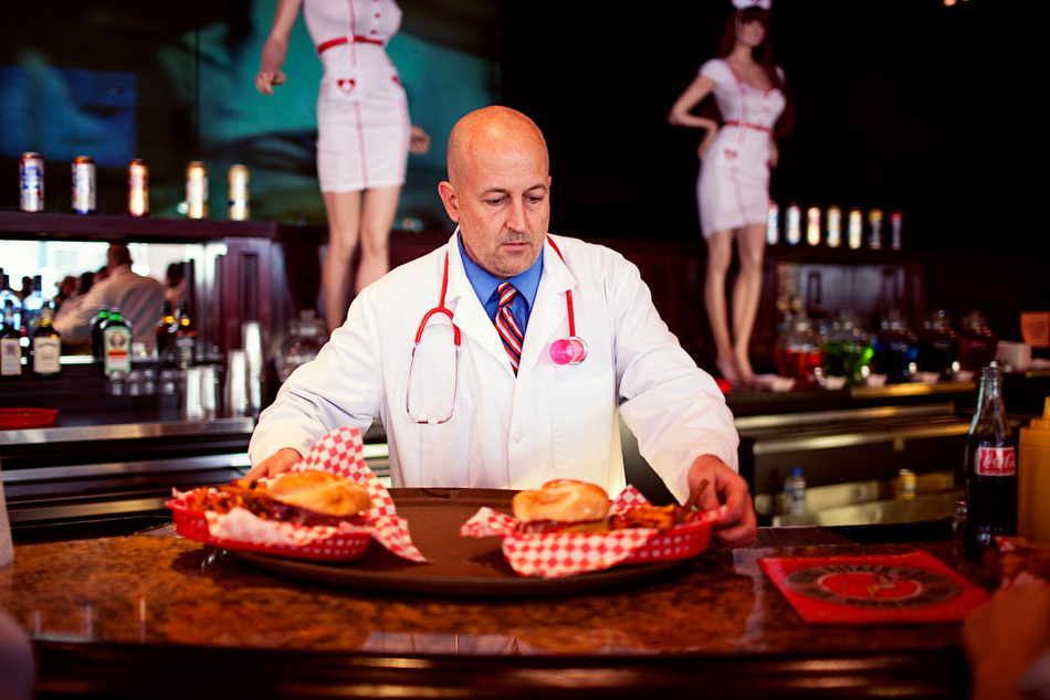 Welcome to the Burger ER: Artery clogging madness at wild Vegas diner Heart Attack Grill.