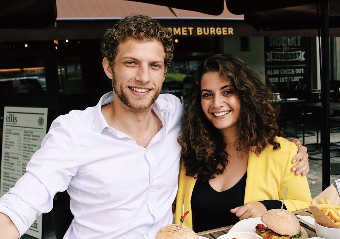 Timothy 'The Burger Man' Vandeputte putting burgers to the test in hometown Antwerp with his sister Amy.