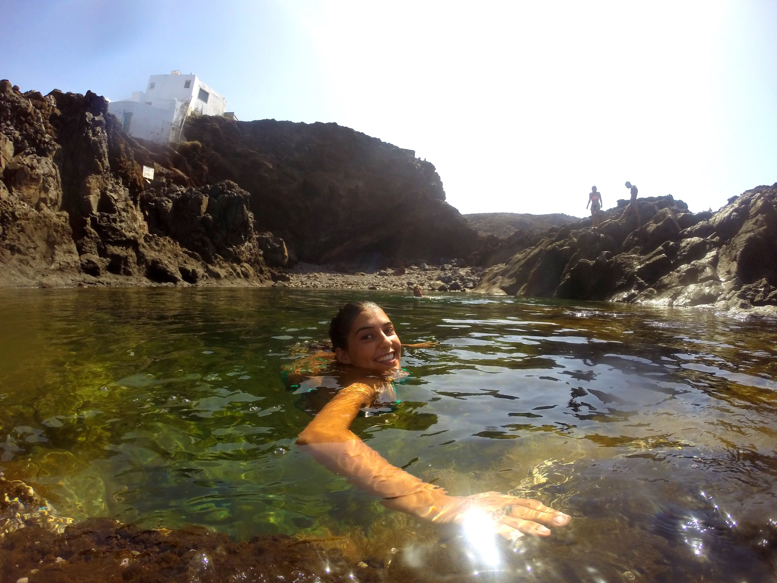 Above: Sonia in her natural habitat, the rock pools of Gran Canaria.