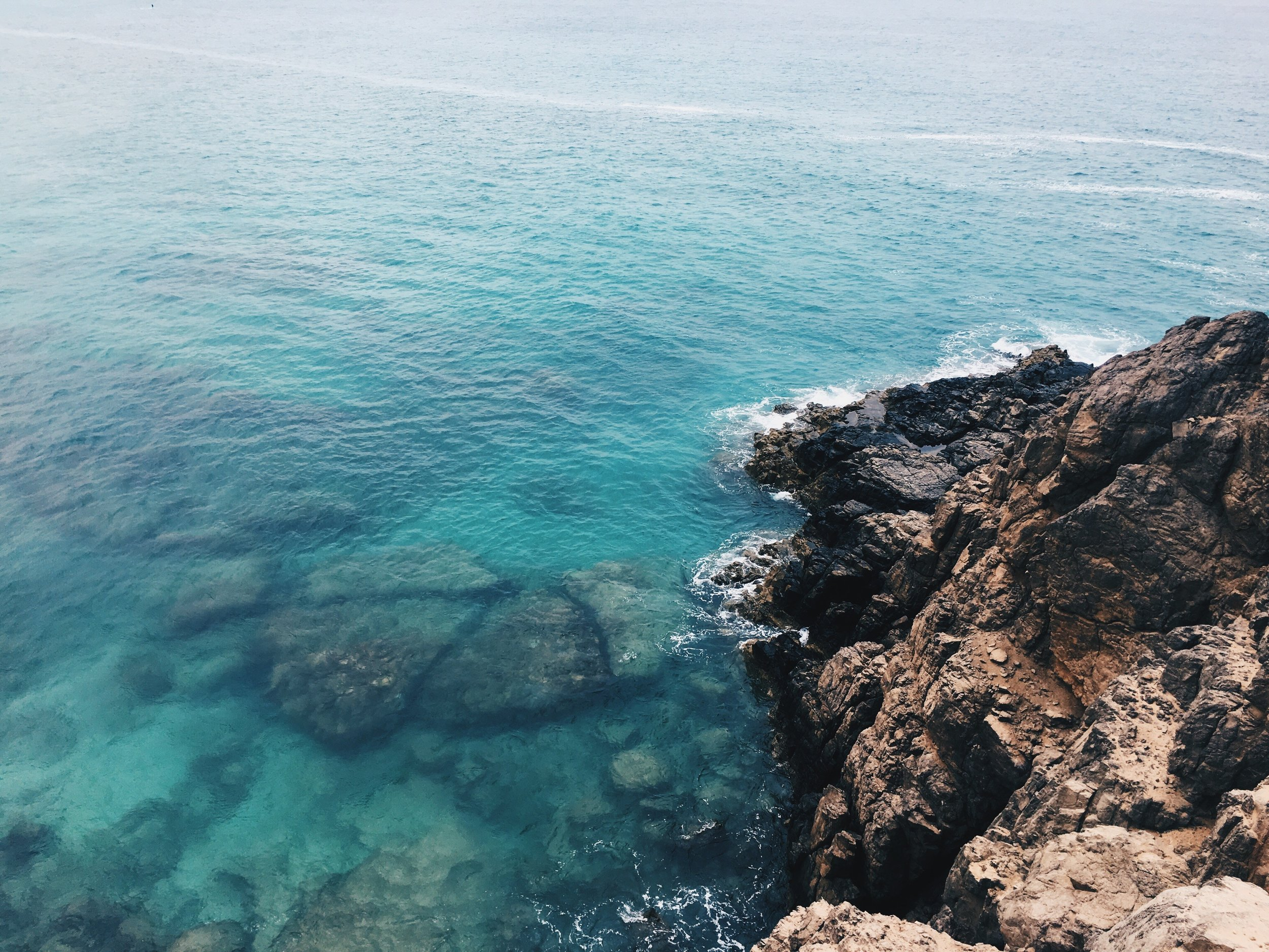 Above: Escape to the sea caves at low tide in Fuerteventura.