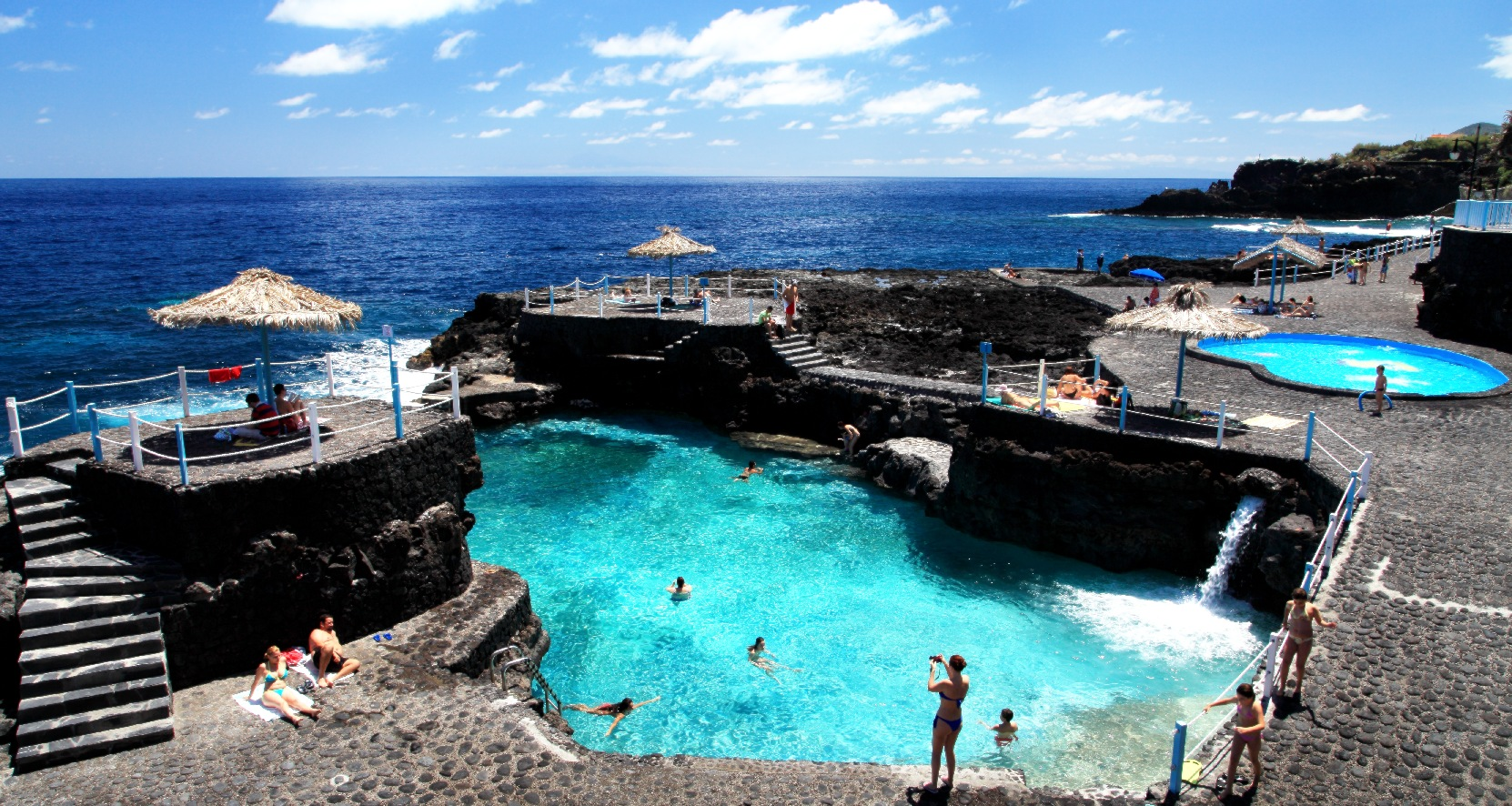 Above: The azure natural swimming pools of El Charco Azul.