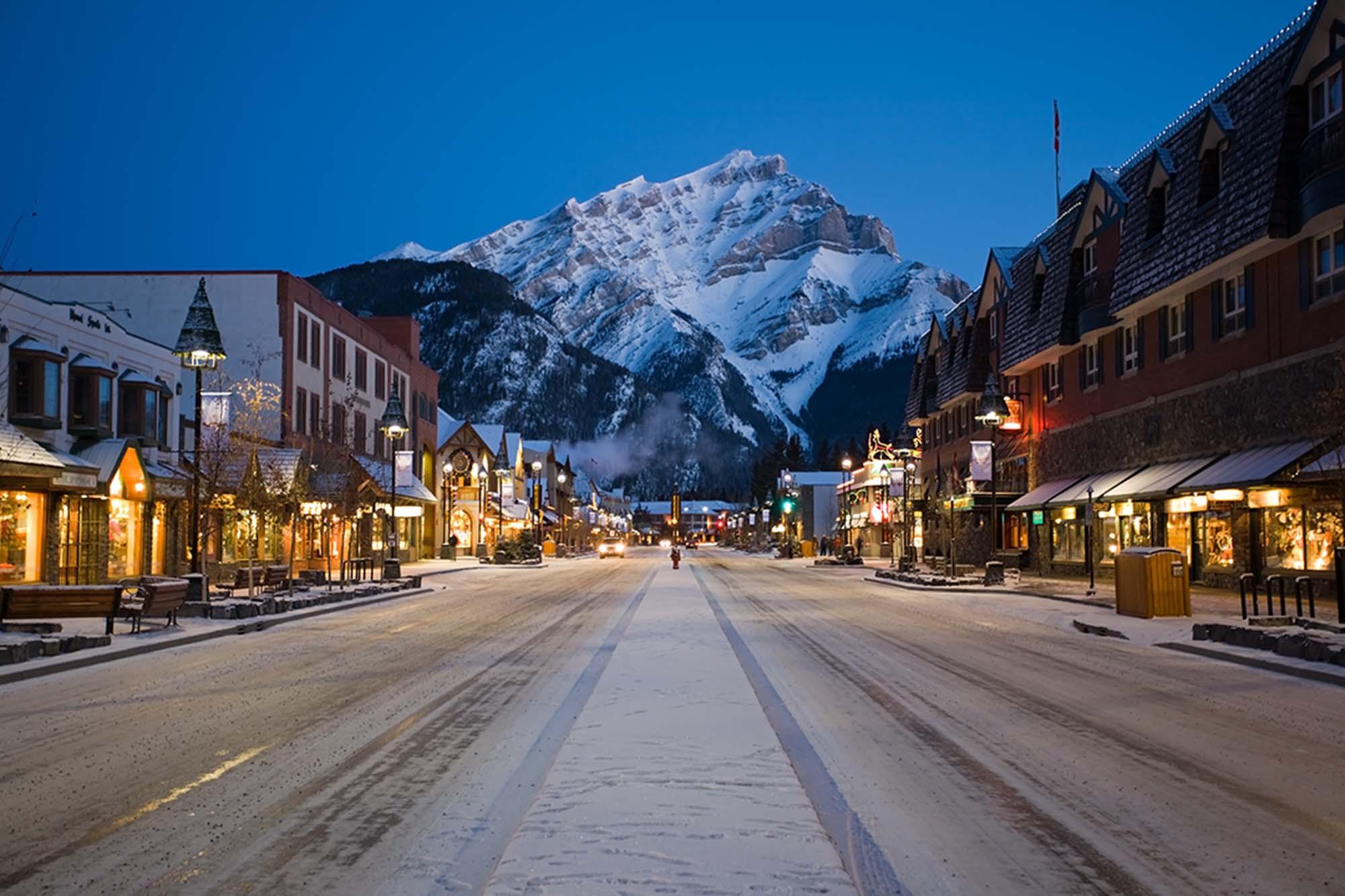 Snow cool: Winter comes alive in Banff, Alberta.