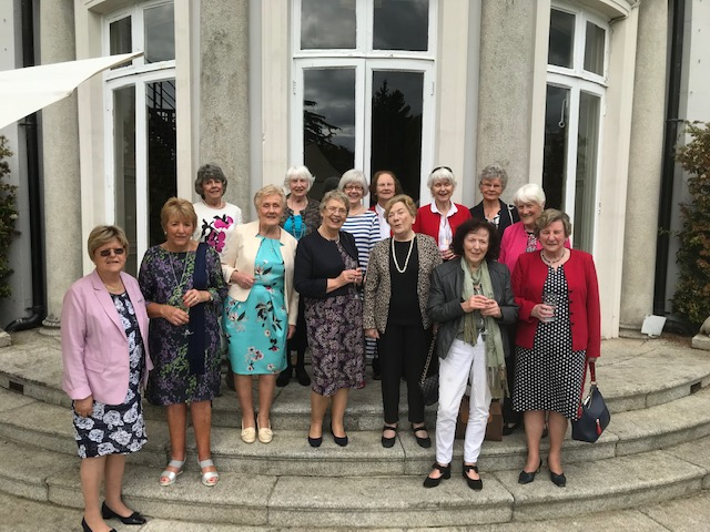 Left to right Beatrice Doran, Barbara Doyle, Maureen Nagle, Sheila Forde, Kathleen Perry, Katherine Duffy, Margot Doyle,  Back row left to right Enda O'Leary, Muriel Hunt, Lorna Madigan, Anne O'Sullivan, Patricia Dain, Madeleine O'Sullivan, Marie O'Reilly.