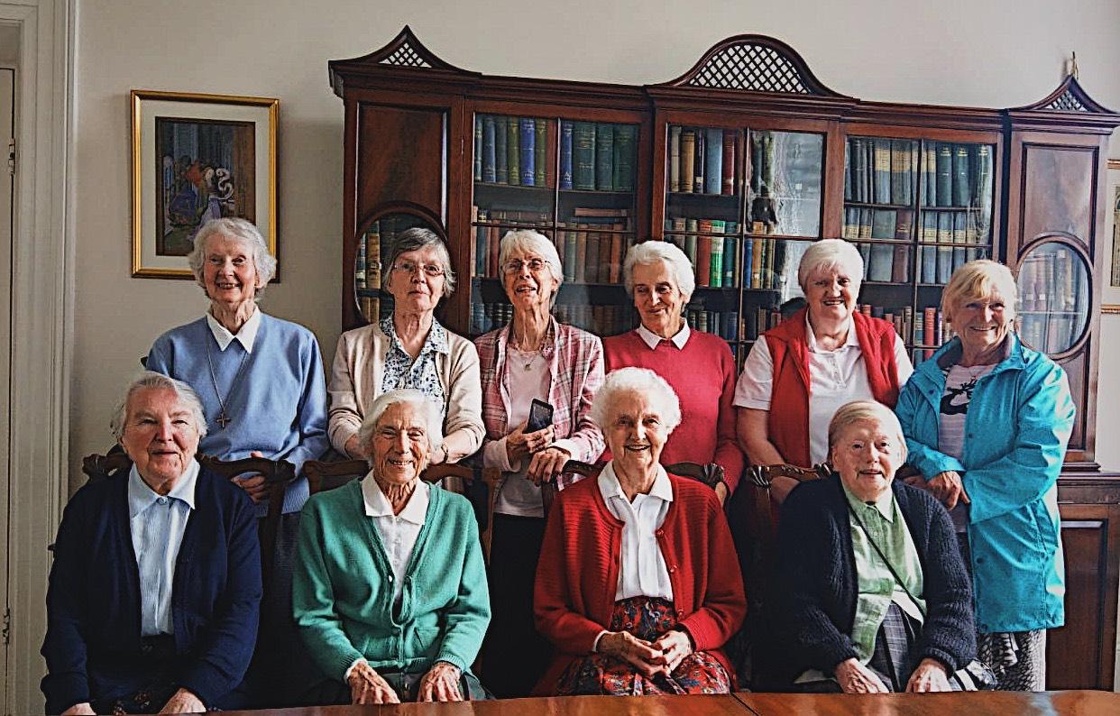 Back row - Sr Alicia, Sr Mary Daly, Sr Claire, Sr Norah, Sheila and Carmel.Front row - Sr Brenda Mary, Sr Teresita, Sr Carmel and Sr Carina. -