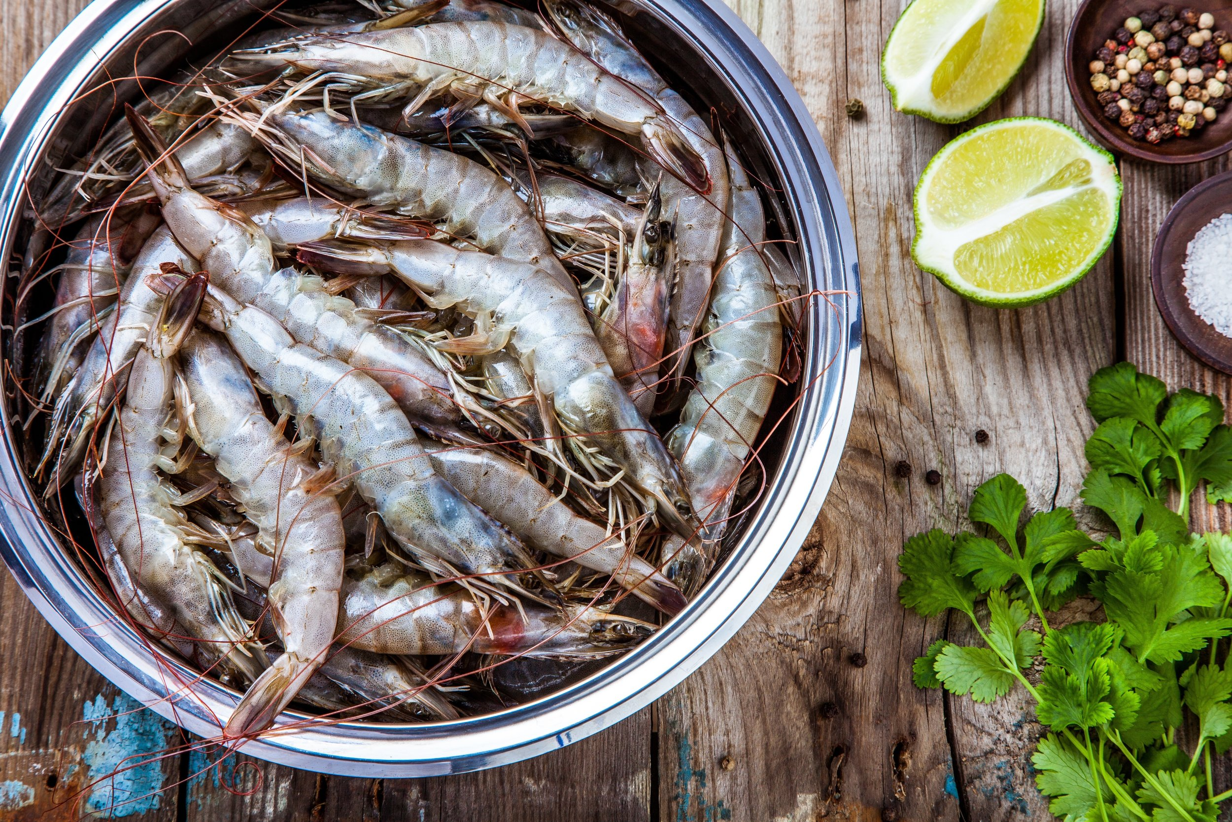 UNIQUE JUMBO SHRIMPS:   -  Raised in France  -  Ultra-Fresh and Tasty  -  Zero Antibiotics Goal