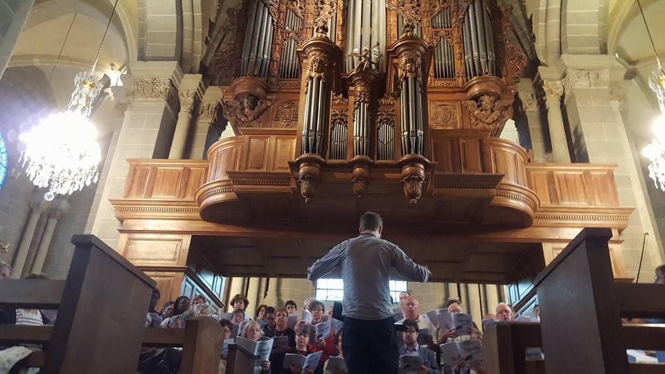 répétition avant concert à la cathédrale du Puy