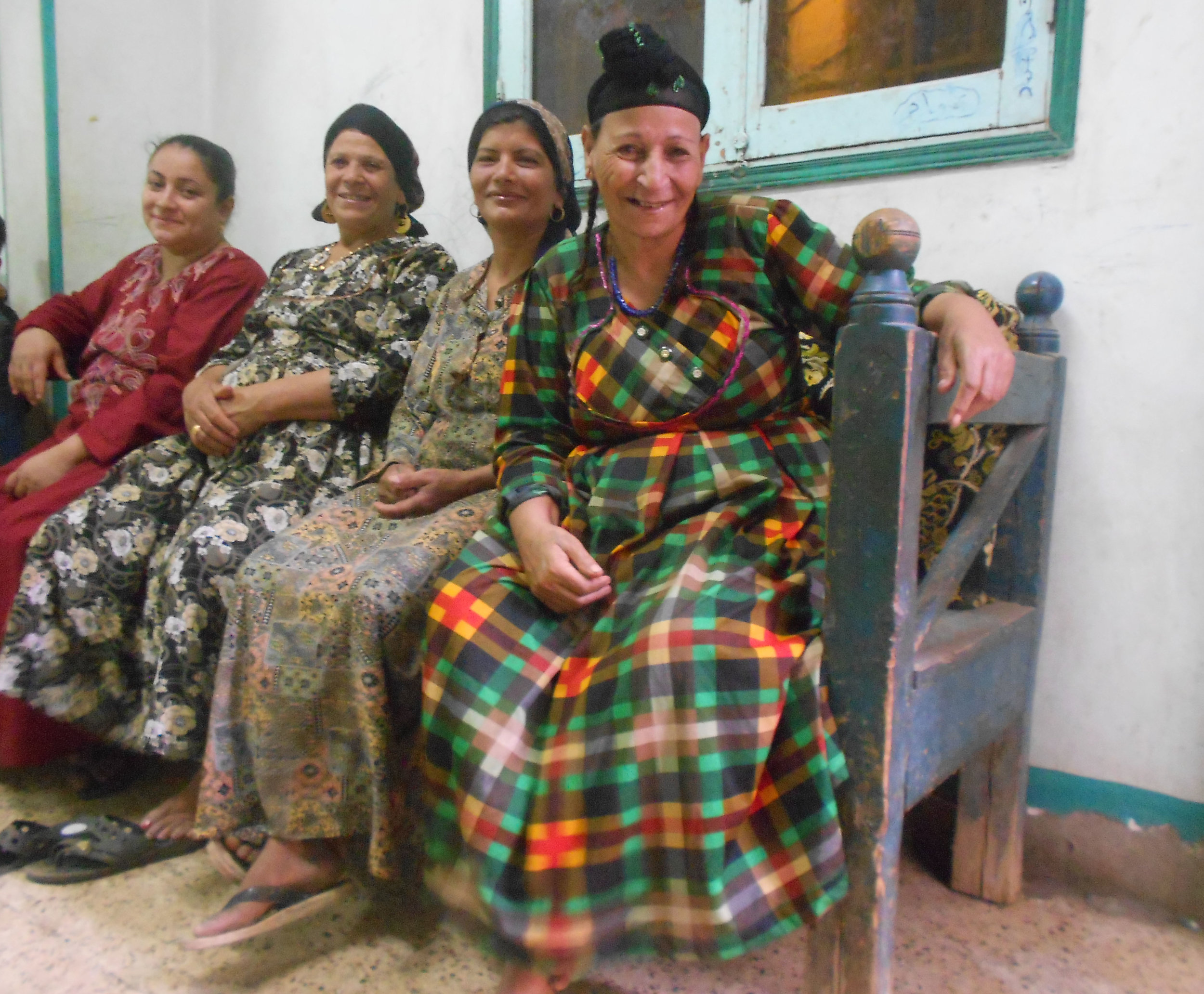 Three Egyptian mothers who have refused to circumcise their daughters and 67-year-old midwife Samiha Saeed (on the far right), who stopped performing FGM surgeries after attending some awareness campaigns by Egypt's non-governmental organisations in the Upper Egyptian governorate of Minya. Photo:Menna A. Farouk