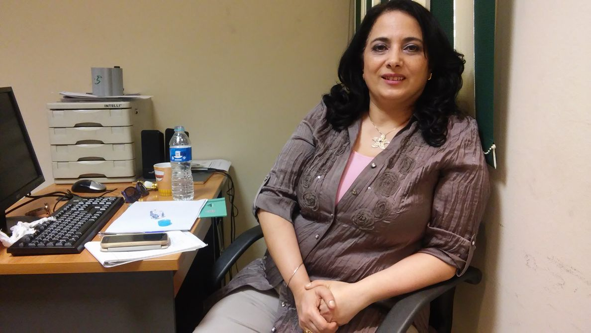 Vivian Fouad, coordinator of the National Programme Against FGM at her office in the National Population Council. Photo: Menna A.Farouk