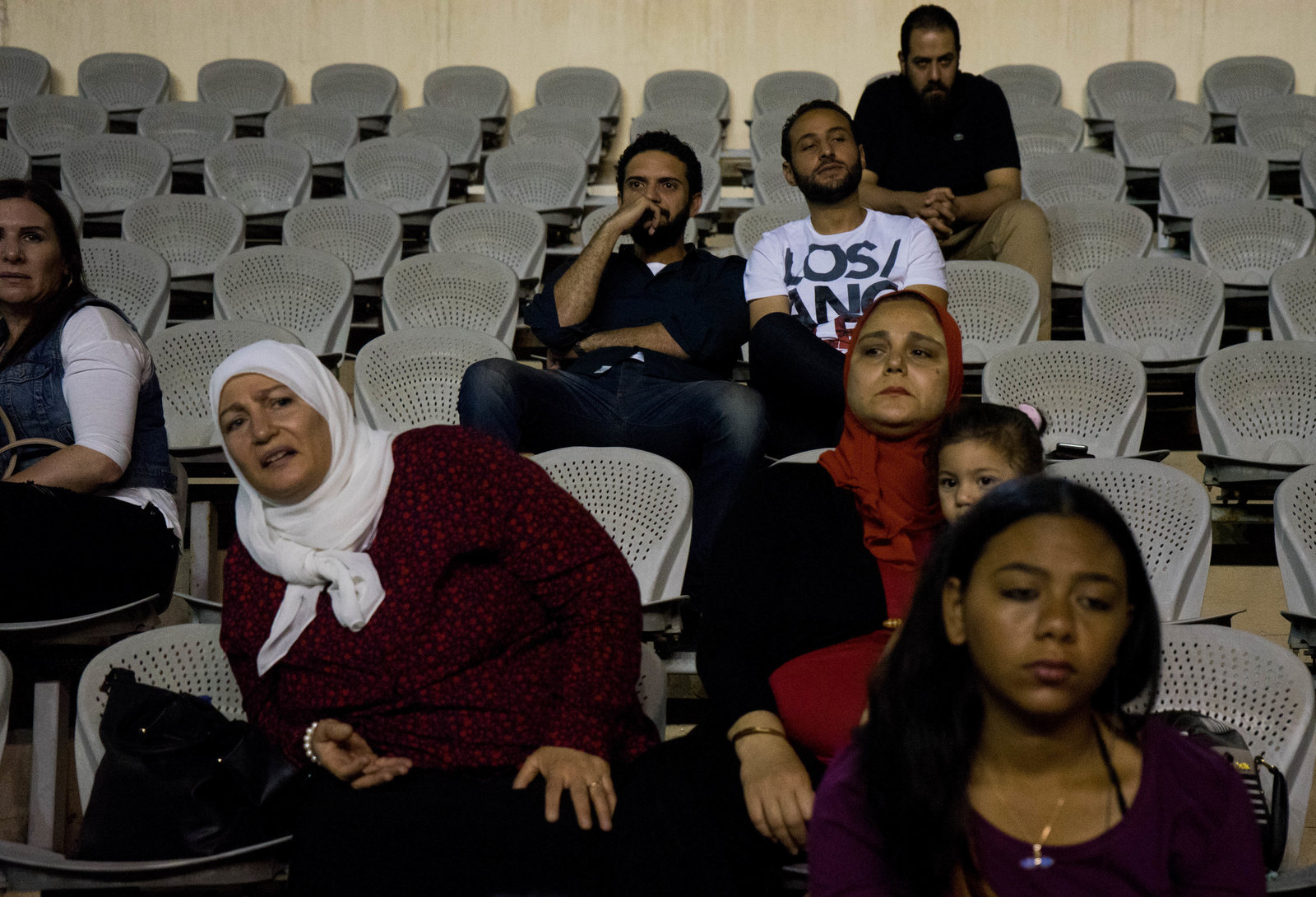 Family and friends watch the CaiRollers from the stands. While families are usually supportive, they have concerns about the women playing such an aggressive game, says Lina El-Gohary.Photo: Marwa Sameer Morgan