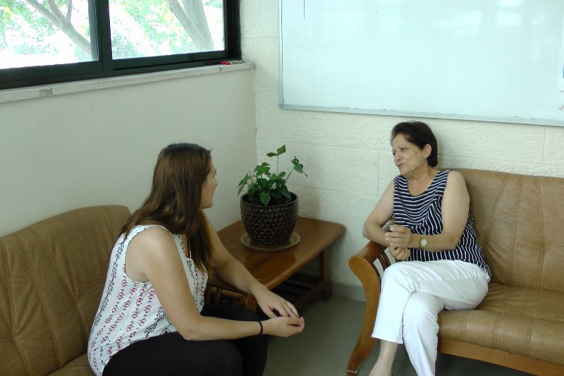 Interview with Layla Naffa at AWO headquarters. Photo: Victoria Silva Sánchez