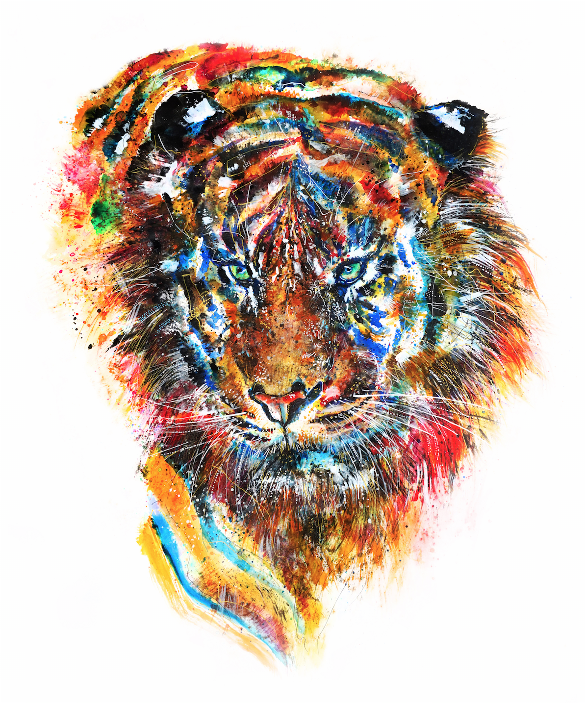 Emily Tan - The power of the work is founded upon her motivation as a social entrepreneur, her altruistic determination to stimulate social change and inspire positive impact. This exciting young artist is currently working with the World Wildlife Fund UK, on a series of nine, stunning, large scale animal portraitures. Each animal being personally named by celebrity ambassadors and employees of WWF UK, they will be applied across a wide range of merchandise and the original artworks will be sold in Auction during 2016. All funds raised go towards WWF.