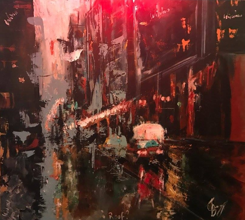 Jack Browning - Jack is a 20-year-old fine artist from the South East of England. Fascinated by conveying personality through abstract portraiture and cityscapes, his pieces are constructed with an emotive use of medium, tactile surfaces and the thoughtful consideration of colour.
