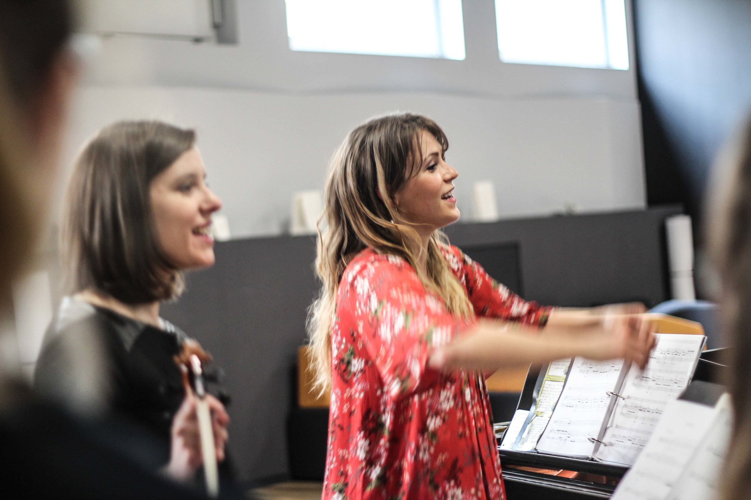 with violist Deanna Anderson masterclass at La Côte International School Aubonne, Switzerland