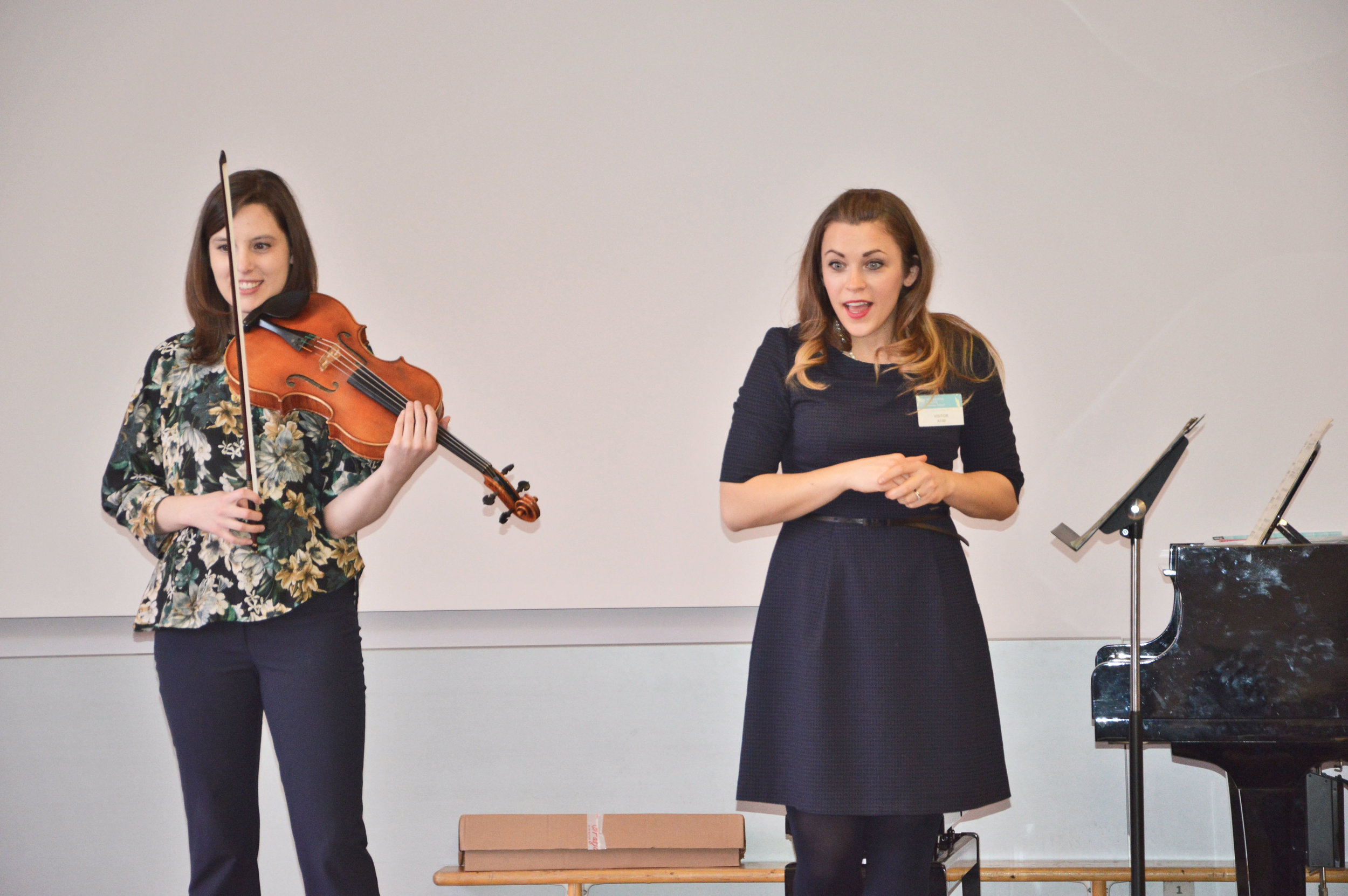masterclass and performance with violist Deanna Anderson The British International School Warsaw, Poland