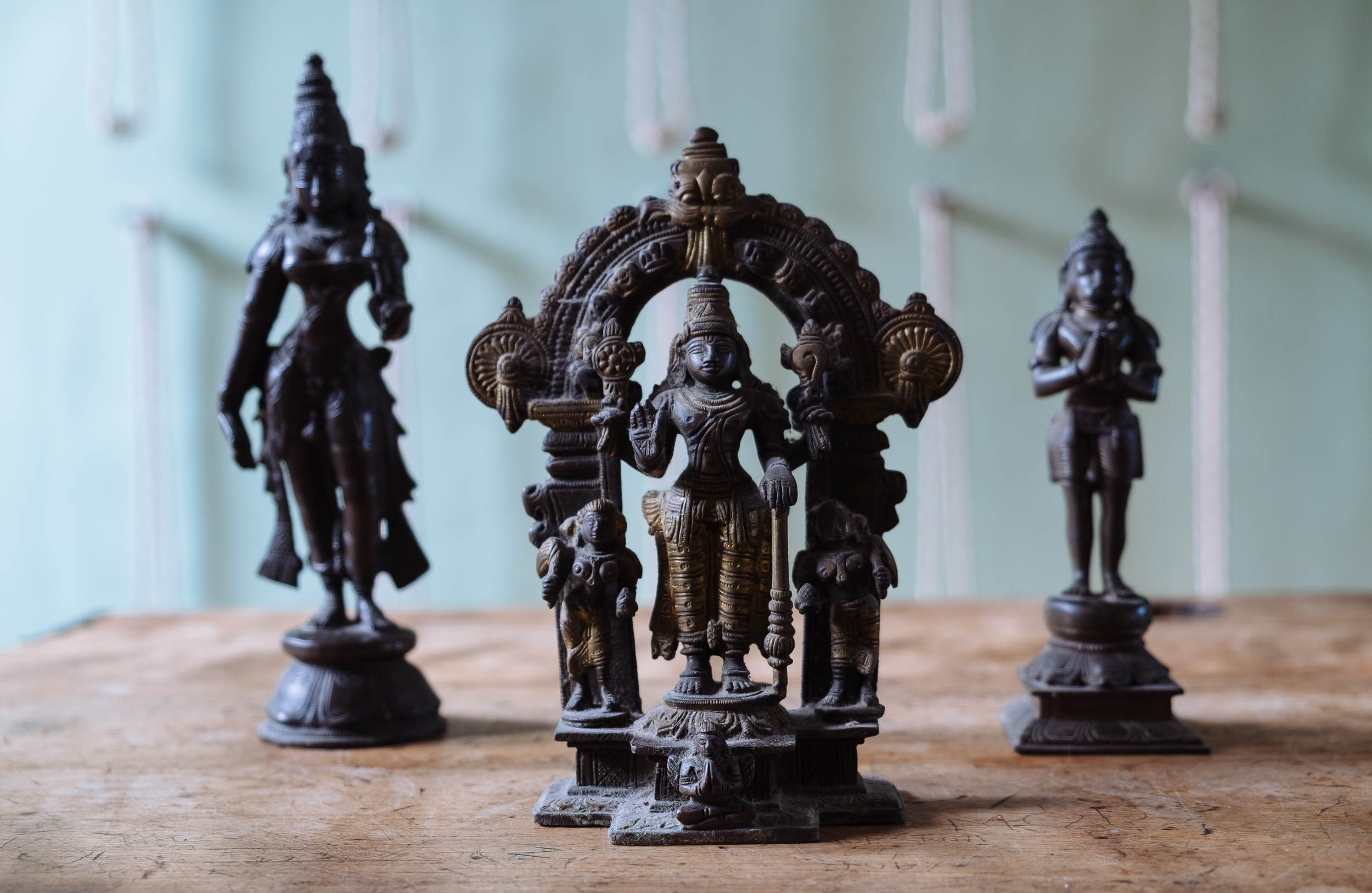 Statues of Indian deities