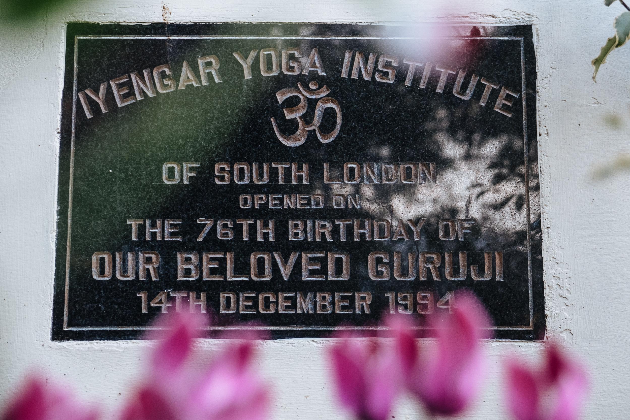 Plaque marking Guruji's visit