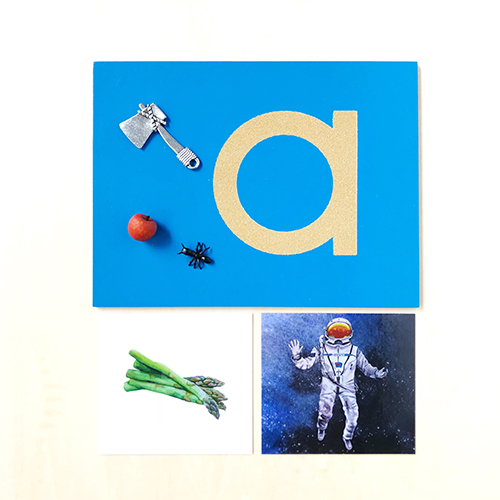 How to teach the alphabet with Montessori sandpaper letters.