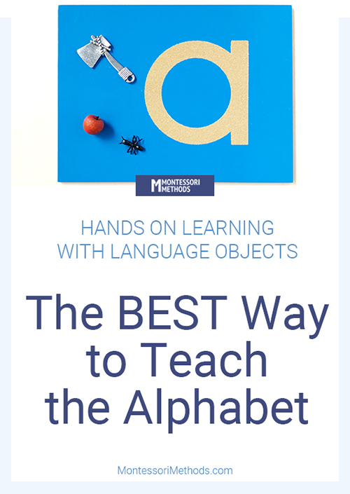 How to teach the alphabet using Montessori language objects.