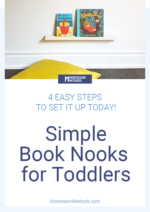 Simple book nook for toddler rooms. #toddlerrooms #montessori