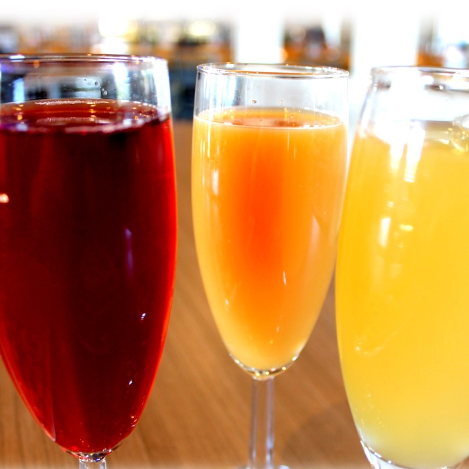 Mimosas from The SandBar and Grill