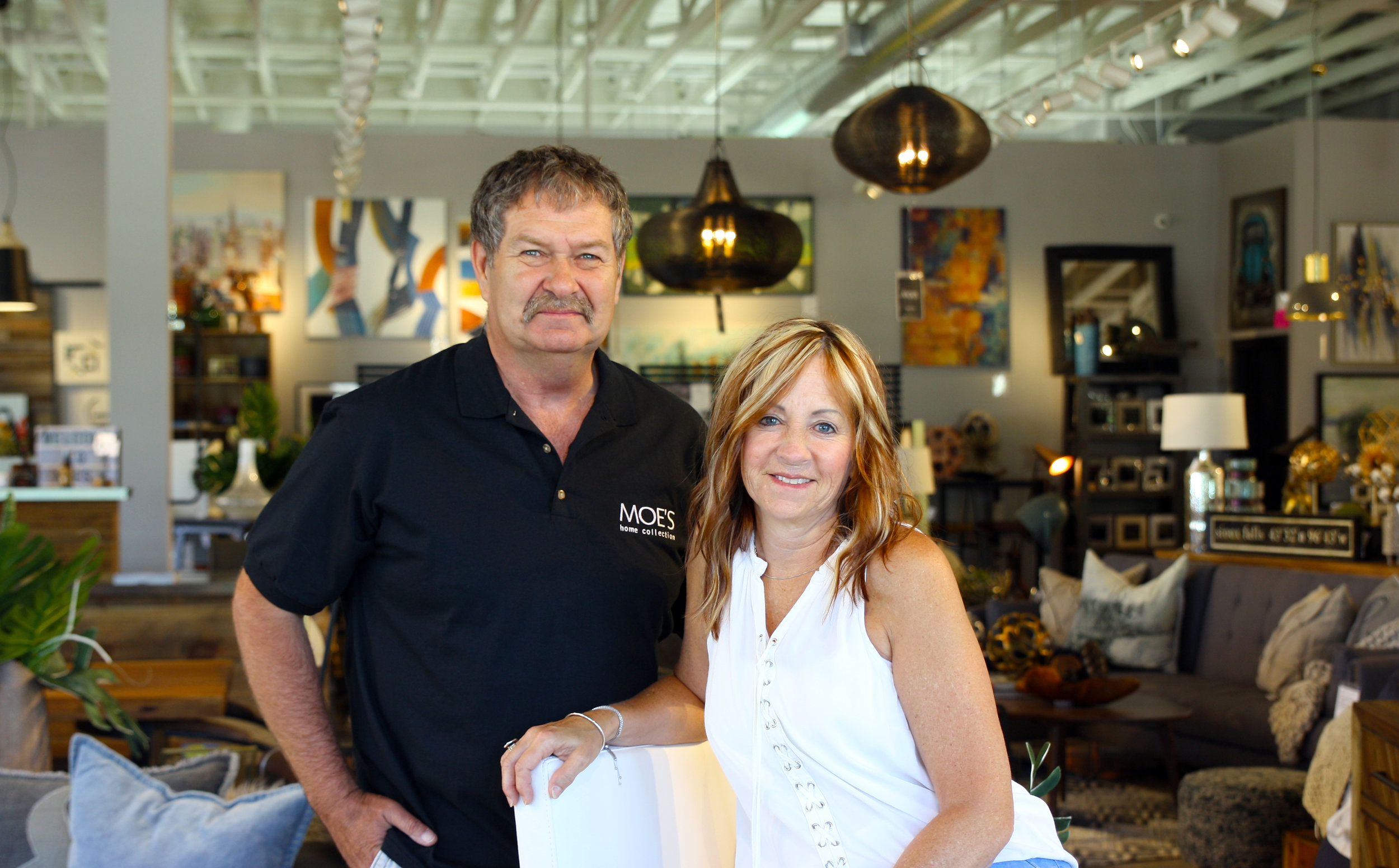 Dave and Tamara Dettler, owners of Moe's Home Lake Lorraine, feel perfectly at home at the lake.