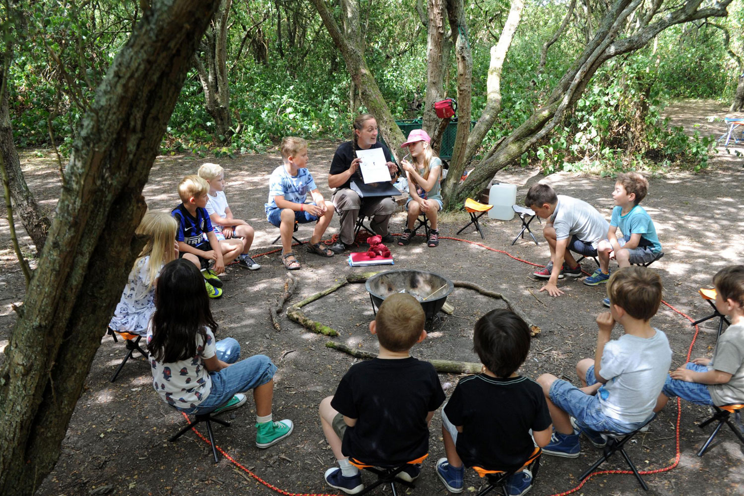 discovering craft skills in the woods at wat tyler