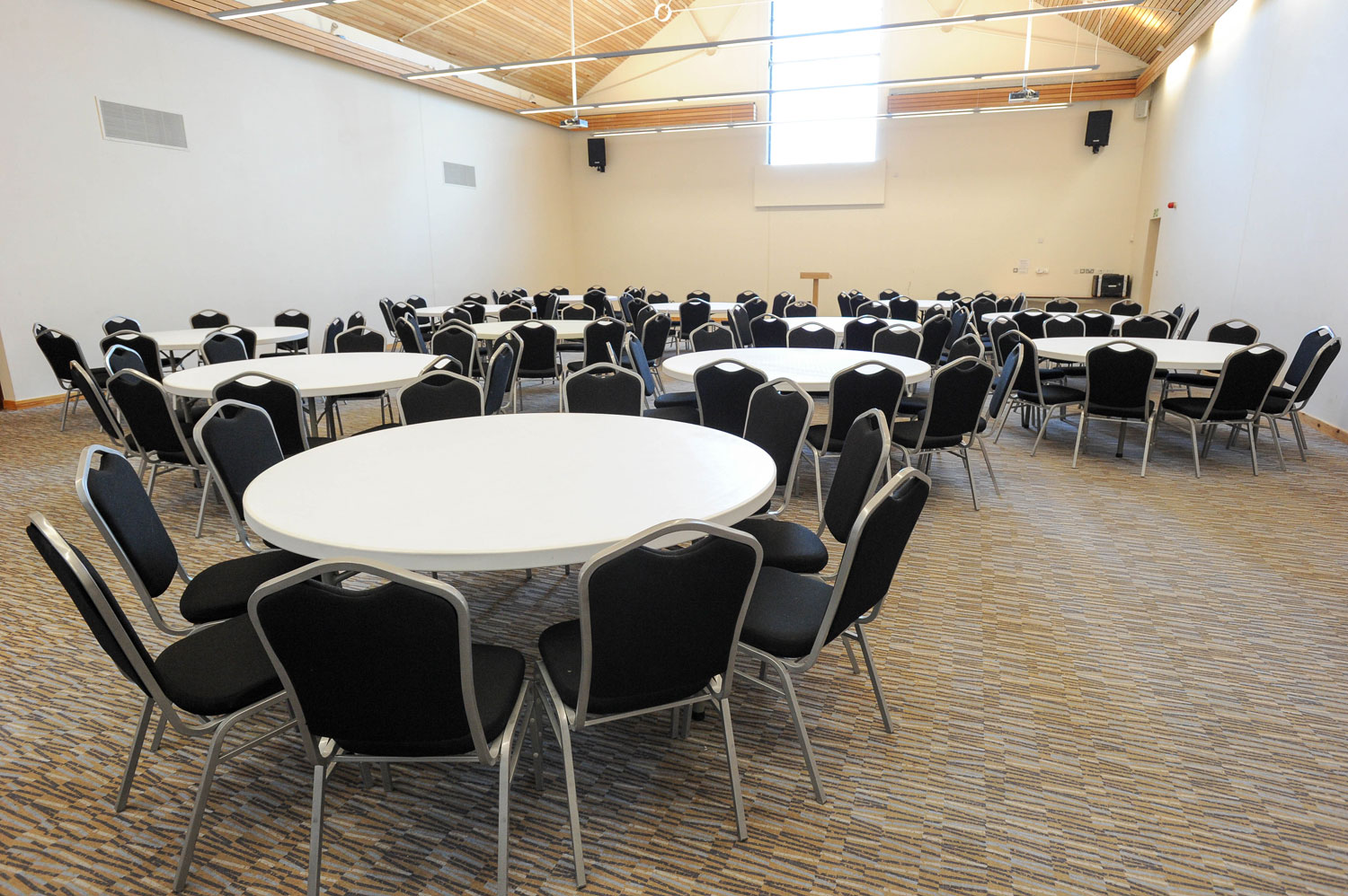 The 250 seat Nobel room is one of twelve affordable hire spaces at Wat Tyler Country Park.