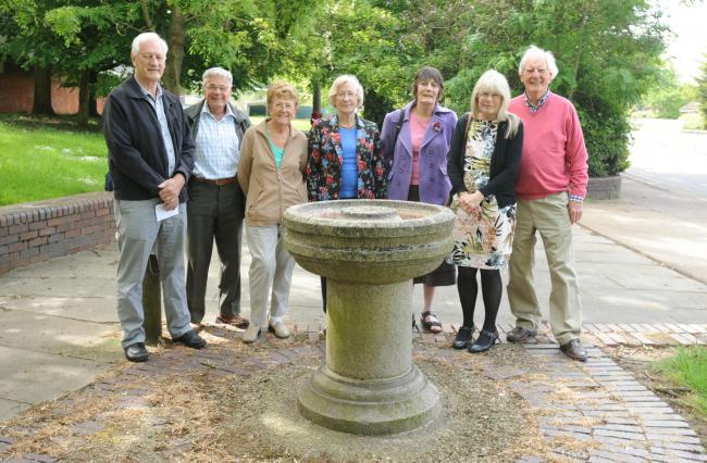 Basildon Heritage members at the fountai