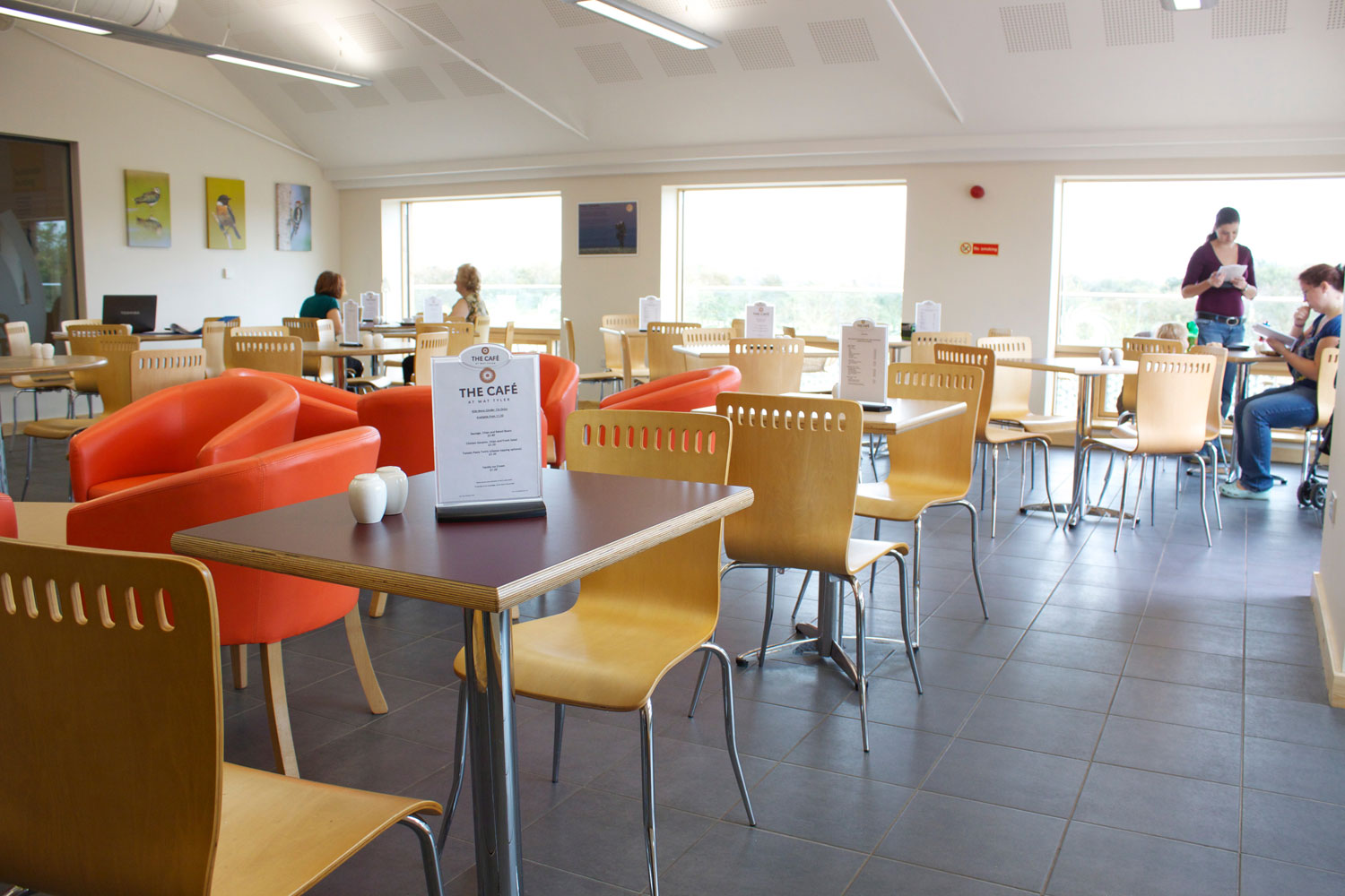 The Wat Tyler café is warm and cosy in the Winter, cool and inviting in the Summer.