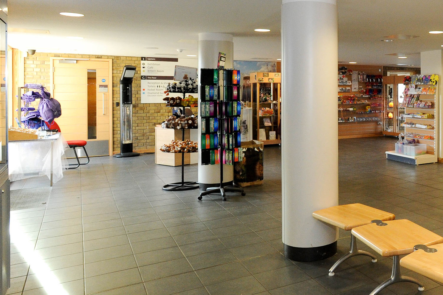 The Wat Tyler shop in reception at the Wat Tyler Centre