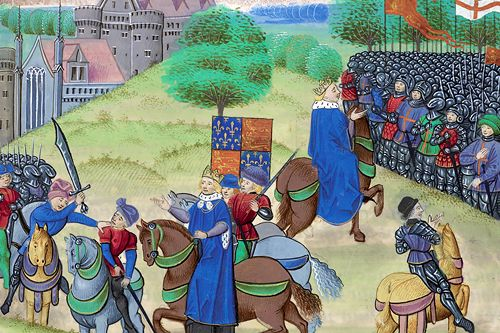 Wat Tyler is murdered by the King's men at the end of the Peasants' Revolt