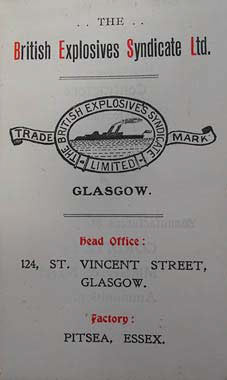 BES were based in Glasgow and made their explosives in Pitsea.