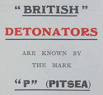 P meant Pitsea when it came to detonators.