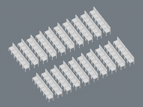 120 seats theatre style