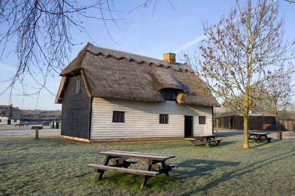 Blunt's Cottage on the Wat Tyler Village Green.