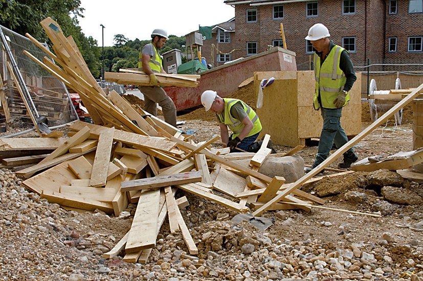 Much of our wood is reclaimed from commercial building and demolition projects
