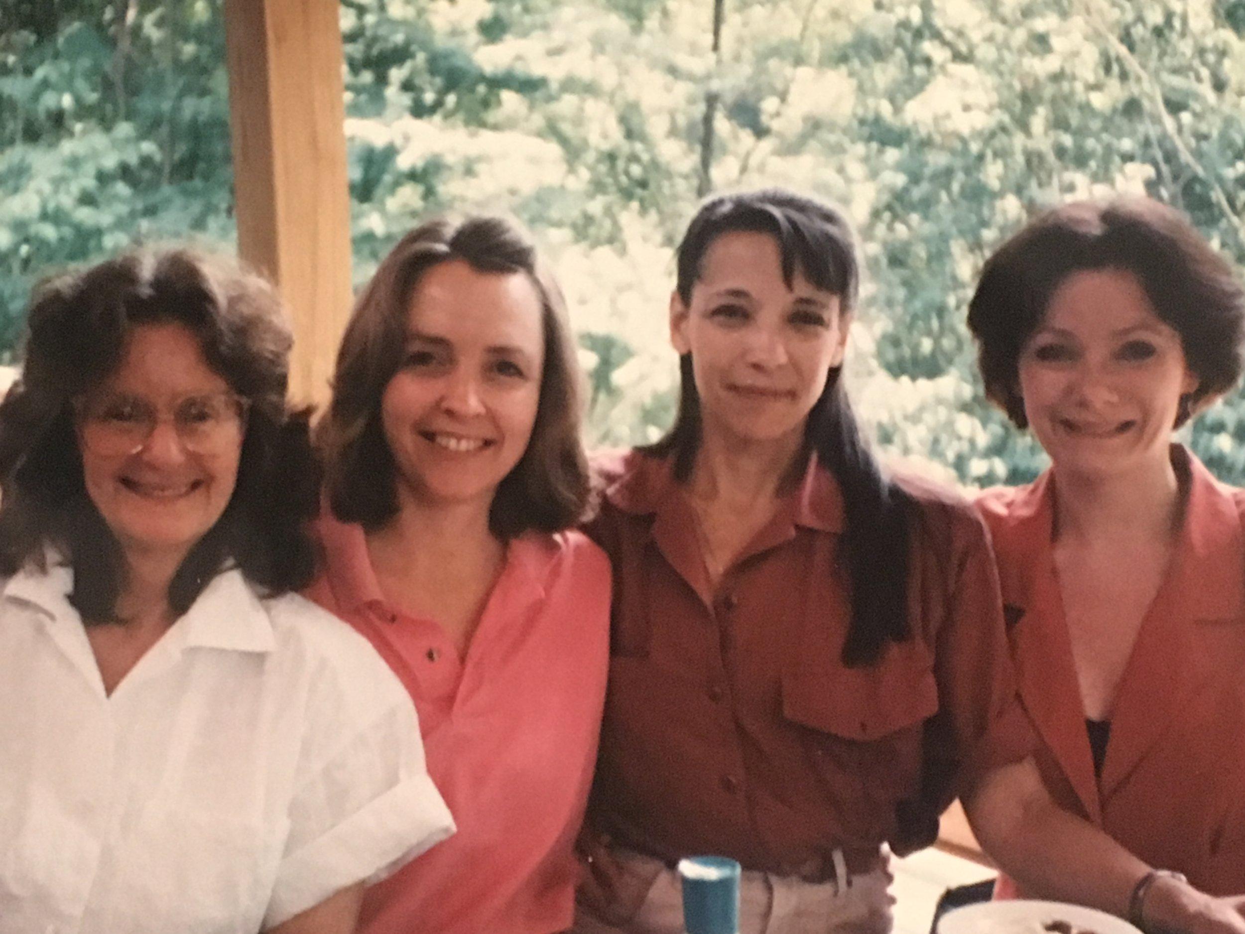 (L to R) Debbie Caplan, Pamela Anderson, Carolyn Serota, Jaye Miller Dougherty