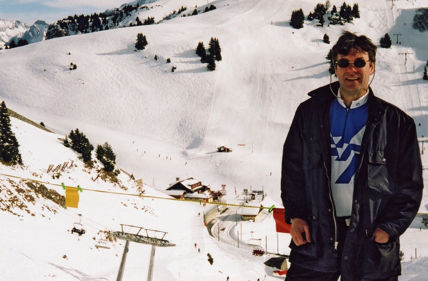 Simon has been selling ski properties in the Swiss Alps for over 30 years. Simon in Villars 1986.