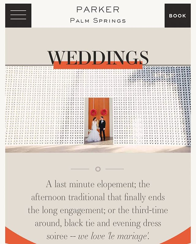 Ok bragging time...Josh's photo is featured on the brand new @parkerpalmsprings website for their #wedding gallery woohoo! It is one of our most favorite places to photograph and we love having such an amazing working relationship with this hotel for over 10 years!